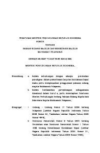 PERATURAN MENTERI PERHUBUNGAN REPUBLIK INDONESIA NOMOR TENTANG PAKAIAN SIDANG MAJELIS DAN SEKRETARIS MAJELIS MAHKAMAH PELAYARAN