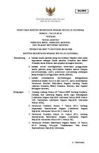 PERATURAN MENTERI SEKRETARIS NEGARA REPUBLIK INDONESIA