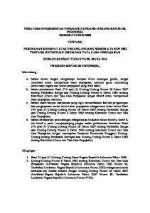 PERATURAN PEMERINTAH PENGGANTI UNDANG-UNDANG REPUBLIK INDONESIA NOMOR 5 TAHUN 2008 TENTANG