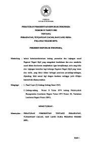 PERATURAN PEMERINTAH REPUBLIK INDONESIA NOMOR 12 TAHUN 1981 TENTANG PERAWATAN, TUNJANGAN CACAD, DAN UANG DUKA PEGAWAI NEGERI SIPIL