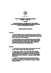 PERATURAN PEMERINTAH REPUBLIK INDONESIA NOMOR 5 TAHUN 2003 TENTANG