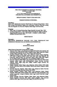 PERATURAN PEMERINTAH REPUBLIK INDONESIA NOMOR 54 TAHUN 2008 TENTANG TATA CARA PENGADAAN DAN PENERUSAN PINJAMAN DALAM NEGERI OLEH PEMERINTAH