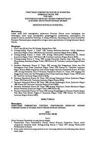 PERATURAN PEMERINTAH REPUBLIK INDONESIA NOMOR 62 TAHUN 1998 TENTANG PENYERAHAN SEBAGIAN URUSAN PEMERINTAHAN DI BIDANG KEHUTANAN KEPADA DAERAH