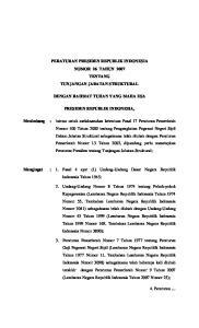 PERATURAN PRESIDEN REPUBLIK INDONESIA NOMOR 26 TAHUN 2007 TENTANG TUNJANGAN JABATAN STRUKTURAL DENGAN RAHMAT TUHAN YANG MAHA ESA