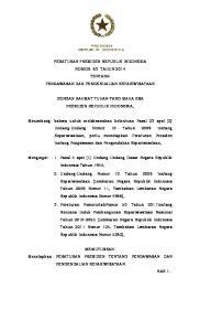 PERATURAN PRESIDEN REPUBLIK INDONESIA NOMOR 63 TAHUN 2014 TENTANG PENGAWASAN DAN PENGENDALIAN KEPARIWISATAAN