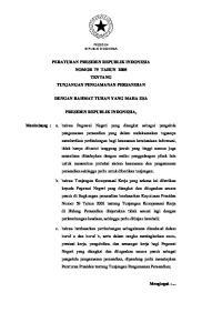 PERATURAN PRESIDEN REPUBLIK INDONESIA NOMOR 79 TAHUN 2008 TENTANG TUNJANGAN PENGAMANAN PERSANDIAN DENGAN RAHMAT TUHAN YANG MAHA ESA