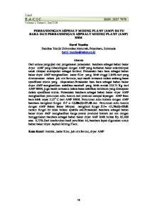 PERBANDINGAN ASPHALT MIXING PLANT (AMP) BATU BARA DAN PERBANDINGAN ASPHALT MIXING PLANT (AMP) BBM