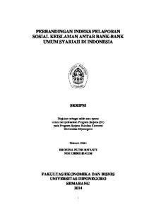 PERBANDINGAN INDEKS PELAPORAN SOSIAL KEISLAMAN ANTAR BANK-BANK UMUM SYARIAH DI INDONESIA