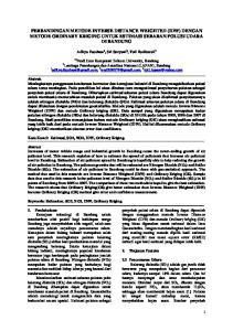 PERBANDINGAN METODE INVERSE DISTANCE WEIGHTED (IDW) DENGAN METODE ORDINARY KRIGING UNTUK ESTIMASI SEBARAN POLUSI UDARA DI BANDUNG