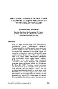 Perbandingan Prokrastinasi Akademik Menurut Pilahan Jenis Kelamin Di Uin