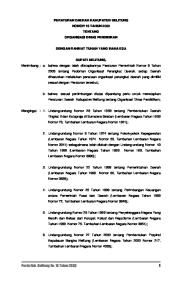Perda Kab. Belitung No. 15 Tahun