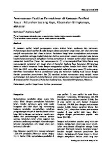 Perencanaan Fasilitas Permukiman di Kawasan Periferi Kasus : Kelurahan Sudiang Raya, Kecamatan Biringkanaya, Makassar
