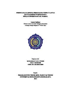 PERENCANAAN GEDUNG PERKULIAHAN EMPAT LANTAI SATU BASEMENT DI SURAKARTA DENGAN PRINSIP DAKTAIL PARSIAL