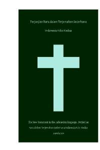 Perjanjian Baru dalam Terjemahan Sederhana Indonesia Edisi Kedua The New Testament in the Indonesian language, Perjanjian Baru dalam Terjemahan