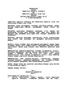 PERSETUJUAN ANTARA PEMERINTAH REPUBLIK INDONESIA DAN PEMERINTAH REPUBLIK ISLAM IRAN TENTANG BANTUAN ADMINISTRATIF TIMBAL BALIK DI BIDANG KEPABEANAN