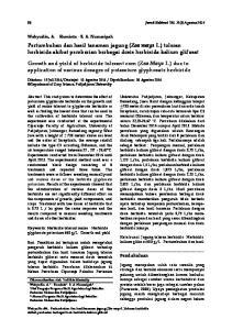 Pertumbuhan dan hasil tanaman jagung (Zea mays L.) toleran herbisida akibat pemberian berbagai dosis herbisida kalium glifosat