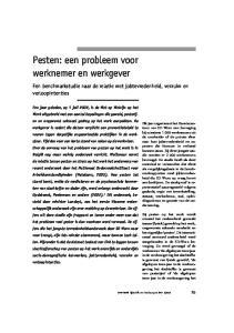 Pesten: een probleem voor werknemer en werkgever