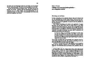 Peter J. Tomson Calvijn en de concrete joodse geboden een oningeloste belofte. Het belang van het thema