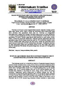 Peternakan Tropika. Journal of Tropical Animal Science