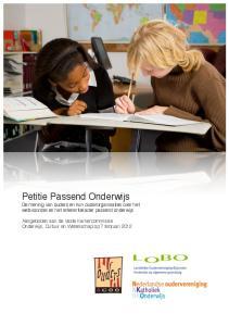 Petitie Passend Onderwijs. De mening van ouders en hun ouderorganisaties over het wetsvoorstel en het referentiekader passend onderwijs