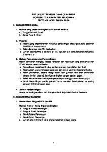 PETUNJUK TEKNIS BIDANG OLAHRAGA PORSENI XIV KEMENTERIAN AGAMA PROVINSI ACEH TAHUN 2014