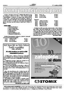 Při volbě stadionu je nutné se řídit následujícími pokyny: strana května 2003