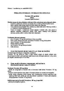 PŘÍBALOVÁ INFORMACE: INFORMACE PRO UŽIVATELE. Protradon 100 mg tablety tablety (tramadoli hydrochloridum)