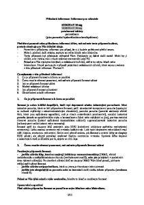 Příbalová informace: Informace pro uživatele. SEROXAT 20 mg SEROXAT 30 mg potahované tablety paroxetinum (jako paroxetini hydrochloridum hemihydricum)