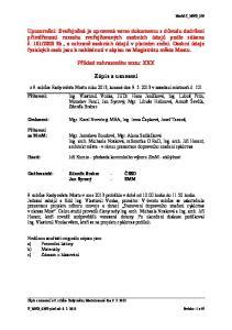 Příklad nahrazeného textu: XXX. Zápis a usnesení. z 9. schůze Rady města Mostu roku 2013, konané dne v zasedací místnosti č