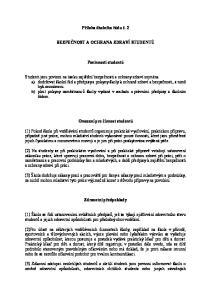 Příloha školního řádu č. 2 BEZPEČNOST A OCHRANA ZDRAVÍ STUDENTŮ. Povinnosti studentů