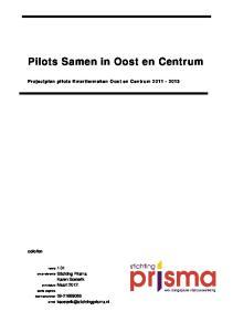 Pilots Samen in Oost en Centrum