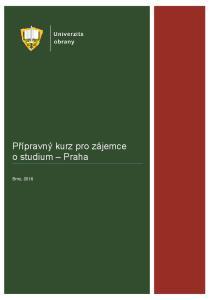 Přípravný kurz pro zájemce o studium Praha