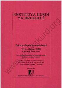 PJI ENSTITUY A KURDİ YABRUKSELE Bultena semehi ya agahdariye N 5 - Kanun 1990 Bt kurdt. frantl. hollandt o tnglnzf