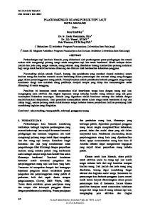 PLACE MAKING DI RUANG PUBLIK TEPI LAUT KOTA MANADO