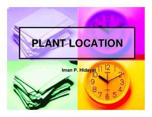 PLANT LOCATION. Iman P. Hidayat