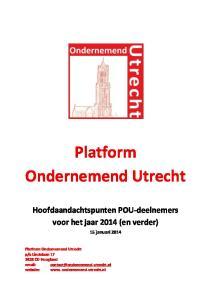Platform Ondernemend Utrecht