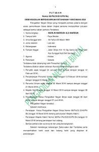 PN Bnj DEMI KEADILAN BERDASARKAN KETUHANAN YANG MAHA ESA Pengadilan Negeri Binjai yang mengadili perkara pidana