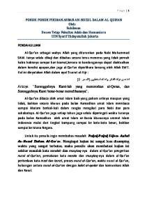 POKOK-POKOK FIKIRAN ASBAB AN-NUZUL DALAM AL-QUR AN Oleh: Suhilman Dosen Tetap Fakultas Adab dan Humaniora UIN Syarif Hidayatullah Jakarta