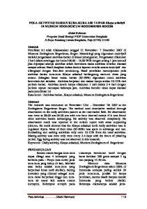 POLA AKTIVITAS HARIAN KURA-KURA AIR TAWAR Elseya schultzii DI MUSEUM ZOOLOGICUM BOGORIENSE BOGOR