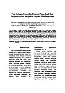 Pola Jaringan Komunikasi Internal Pemerintah Kota Denpasar dalam Mengelola Program PRO Denpasar+