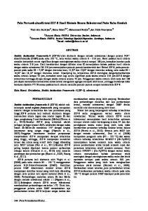 Pola PertumbuhanKristal ZIF-8 Hasil Sintesis Secara Solvotermal Pada Suhu Rendah