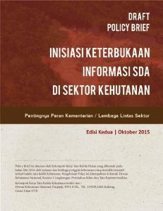 Policy Brief Tata Kelola Kehutanan