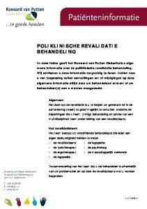 POLIKLINISCHE REVALIDATIE BEHANDELING