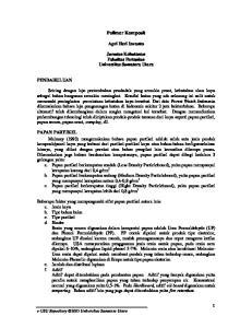 Polimer Komposit. Apri Heri Iswanto. Jurusan Kehutanan Fakultas Pertanian Universitas Sumatera Utara