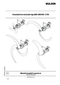 Pomaluběžné míchadlo typ ABS XSB