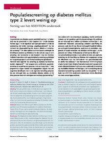 Populatiescreening op diabetes mellitus type 2 levert weinig op