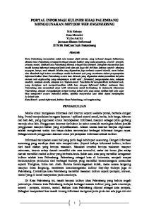 PORTAL INFORMASI KULINER KHAS PALEMBANG MENGGUNAKAN METODE WEB ENGINEERING