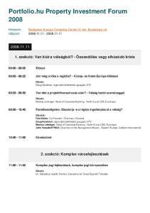 Portfolio.hu Property Investment Forum 2008
