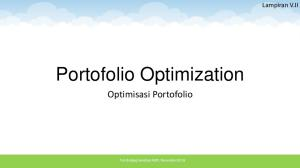Portofolio Optimization