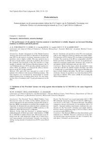 Posterabstracts. Ned Tijdschr Klin Chem Labgeneesk 2010; 35: Categorie 1 Analytisch Fotometrie, elektrochemie, sensortechnologie